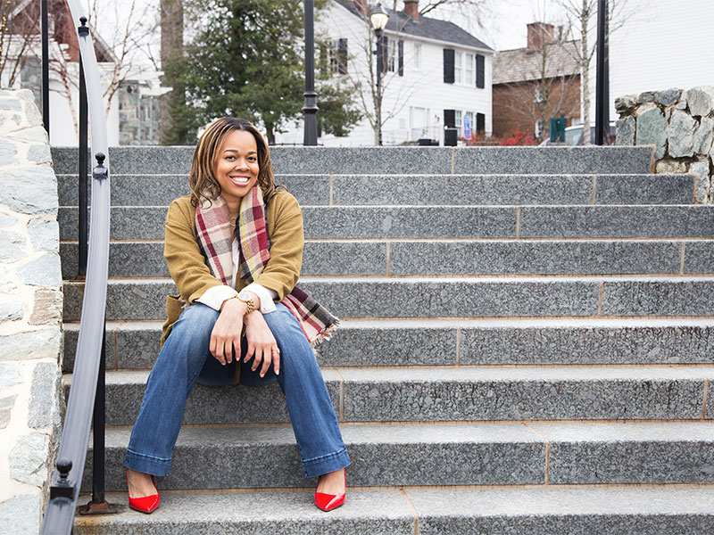 Therapist and Counselor Personal Branding Photoshoot Outside in Fairfax City VA