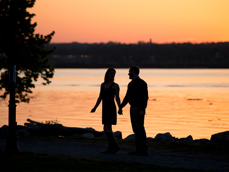 Couples Portrait Session at at Sunrise at Old Town Alexandria Waterfront VA